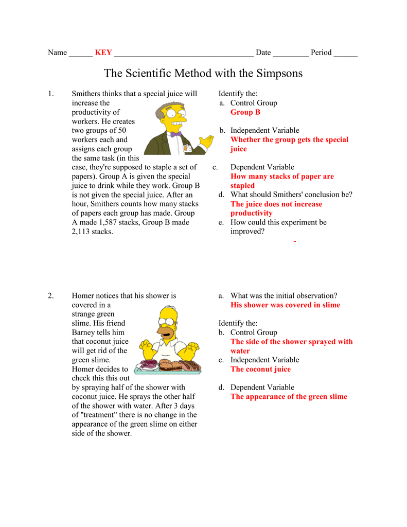 Worksheets Simpsons Scientific Method Worksheet simpsons scientific method worksheet switchconf simpson science answers photos leafsea