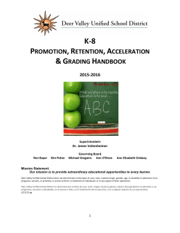 Promotion, Retention Grading Handbook