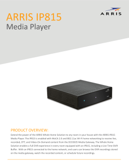 PDF IP Media Player IP815 Data Sheet