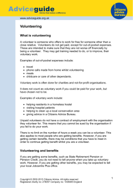 Volunteering - Citizens Advice