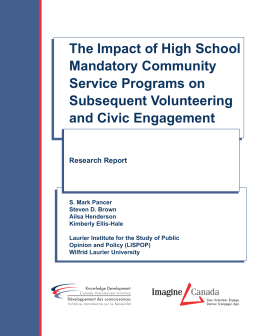 The Impact of High School Mandatory Community Service Programs