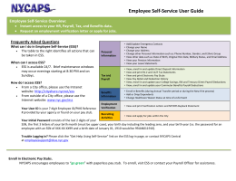 Employee Self-Service User Guide