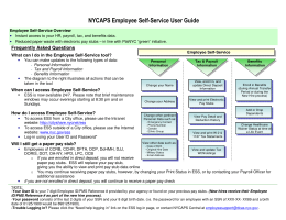 NYCAPS Employee Self-Service User Guide