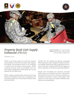 Property Book Unit Supply Enhanced (PBUSE)