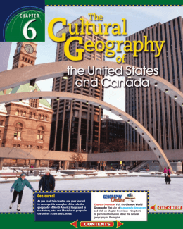Chapter 6: The Cultural Geography of the United States and Canada