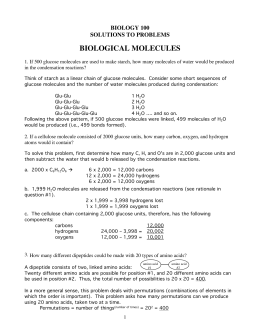 biological molecules - Millersville University