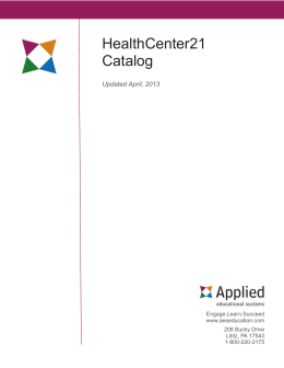 HealthCenter21 Catalog - Applied Educational Systems