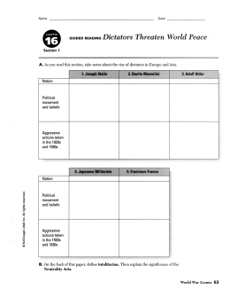 guided reading war in europe rh slideshowes com WWII Dictators Dictators of the World Today