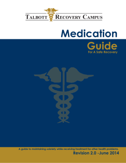 Medication Guide - Talbott Recovery