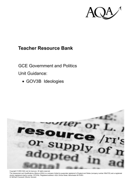 A-level Government and Politics Unit guide Unit guide: GOV3B