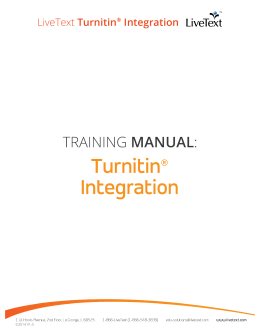 LiveText Turnitin® Integration
