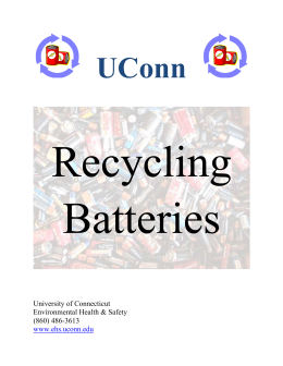 Battery Disposal and Recycling Guide