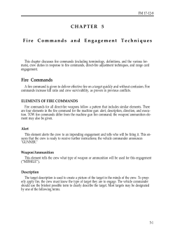 Fire Commands - on ENLISTMENT.US