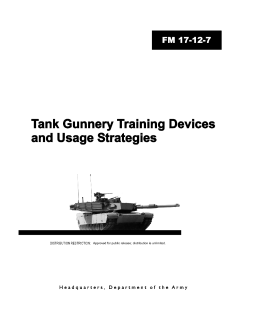 Tank Gunnery Training Devices and
