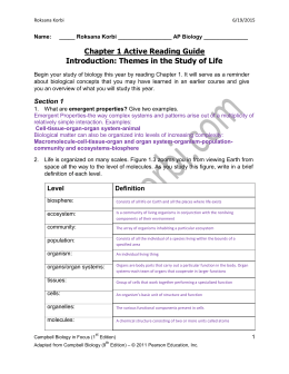 Chapter 1 Active Reading Guide Introduction: Themes in the Study