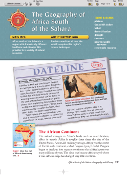 The Geography of Africa South of the Sahara The Geography of
