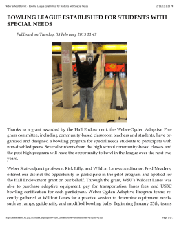 Read Special Needs Bowling Article