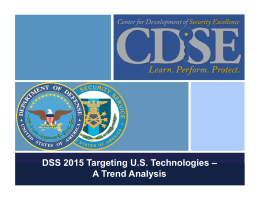 DSS 2015 Targeting US Technologies – A Trend Analysis