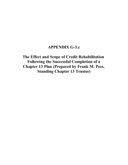 APPENDIX G-3.c The Effect and Scope of Credit Rehabilitation
