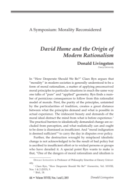 David Hume and the Origin of Modern Rationalism