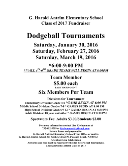 Dodgeball Tournaments - Point Pleasant Beach School District