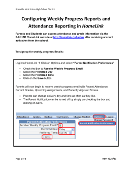 Configuring Weekly Progress Reports and Attendance Reporting in