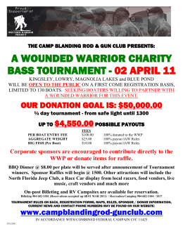 a wounded warrior charity bass tournament
