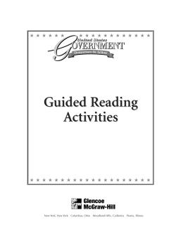 Guided Reading Activities Guided Reading Activities