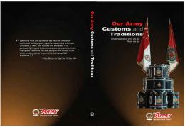Our Army: Customs and Traditions
