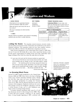 """he Growing Work Force - American Studies"