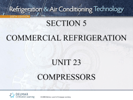section 5 commercial refrigeration unit 23 compressors
