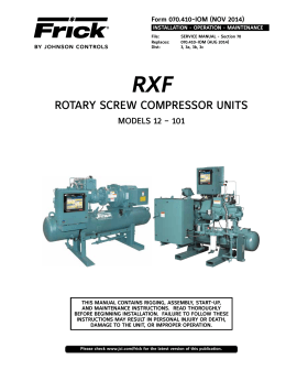 ROTARY SCREW COMPRESSOR UNITS