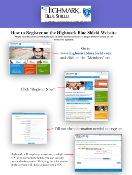 How to Register on the Highmark Blue Shield Website