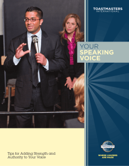 Your Speaking Voice - Toastmasters International