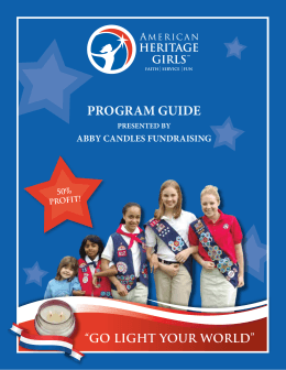 program guide - Abby Candles