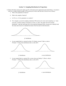 Section 7.1: Sampling Distribution for Proportions