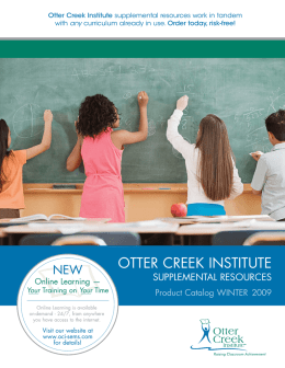 OTTER CREEK INSTITUTE - oci