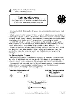 Communications - Cooperative Extension