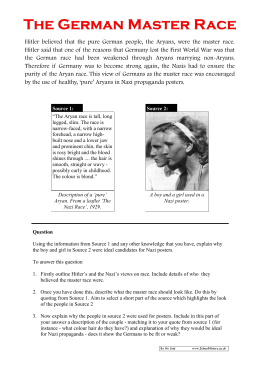The German Master Race Source Analysis Worksheet