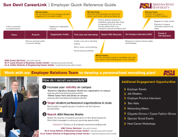 Sun Devil CareerLink | Employer Quick Reference Guide
