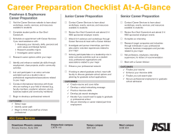 Career Prep Checklist