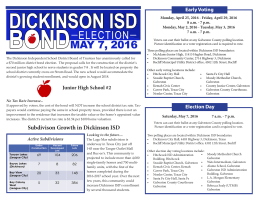 Bond Flyer - Dickinson ISD