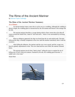 The Rime of the Ancient Mariner (Highlights)