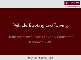 Vehicle Booting and Towing