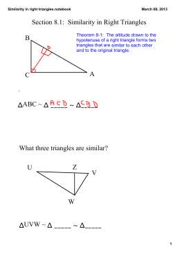 Similarity in right triangles.notebook