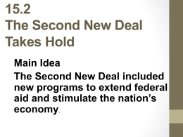 15.2 The Second New Deal Takes Hold