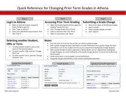 Quick Reference for Changing Prior Term Grades in Athena