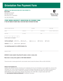 Orientation Fee Payment Form