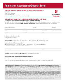 deposit form - Stony Brook University