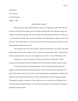 Science Buddies: Sample Science Fair Research Paper